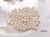 Round Pearl Wholesale—AAA Shiny 6.5-7mm Round Natural White Pearl