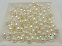 AAA-grade 7.5mm Round Natural White Loose Freshwater Pearl