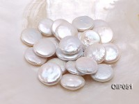 Wholesale AAA-grade White 6x19mm Button-shaped Loose Pearls