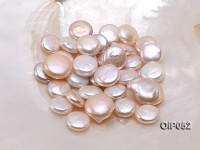 Wholesale AAA-grade 16x26mm White/Pink/Lavender Button-shaped Pearl