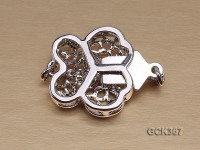 15mm Butterfly-shaped 18K Gold-plated Cupronickel Clasp Inlaid with Shiny Zircons