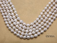 Wholeslae Special 10-12mm White Baroque Pearl String