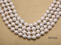 Wholesale Irregular Pearl—Special 12-15mm White Baroque Pearl String