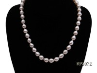 8-9mm White Rice-shaped Freshwater Pearl Necklace and earrings Set