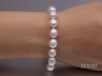 8-9mm White Rice-shaped Freshwater Pearl Necklace and Bracelet Set