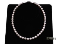 Classic 7.5-8mm AAA White Rice-shaped Cultured Freshwater Pearl Necklace