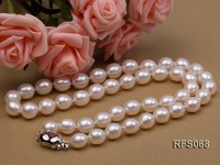 7.5-8mm White Rice-shaped Freshwater Pearl Necklace and Bracelet Set