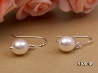 7.5-8mm White Rice-shaped Freshwater Pearl Necklace and earrings Set