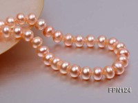 Classic 9-10mm Pink Flat Cultured Freshwater Pearl Necklace