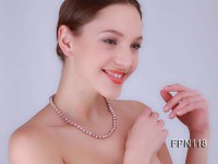 Classic 8-9mm AA lavender Flat Cultured Freshwater Pearl Necklace