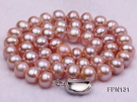 Classic 10-11mm Lavender Flat Cultured Freshwater Pearl Necklace