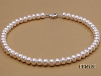 Classic 11-12mm White Flat Cultured Freshwater Pearl Necklace