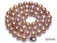 Super-size 12-13mm Lavender Round Edsion Opera Pearl Necklace