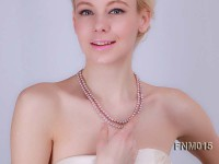 2 Strand Flat Lavender Freshwater Pearl Necklace