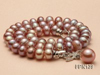 Classic 9-10mm AAA Lavender Flat Cultured Freshwater Pearl Necklace