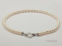 Classic 9-10mm White Flat Cultured Freshwater Pearl Necklace