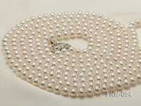 6-7mm High Quality Flatly Round Pearl Necklace with Stering Silver Clasp