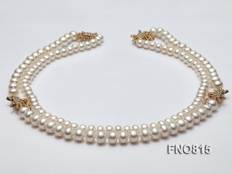 Elegant Opera Pearl Necklace with Shiny Zircon Accessory
