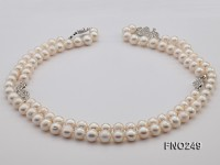 9-10mm High Quality Round Freshwater Pearl Necklace
