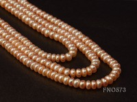 6-7mm High Quality Flatly Round Freshwater Pearl Necklace