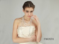 12-13mm White Coin Freshwater Pearl Necklace