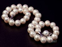12-13mm Round White Pearl Necklace with Stering Silver Clasp