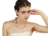 Classic 14-17mm Multi-color Round Edison Pearl Necklace