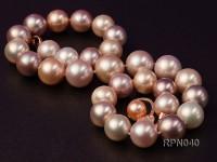 Classic 14-17mm Multi-color Round Edison Pearl Necklace