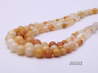 Beautiful Three-Row Yellow Jade Necklace