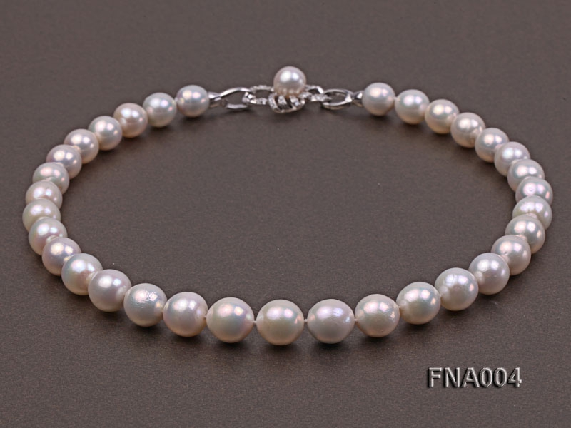 Classic 11-13mm White Round Edison Pearl Necklace