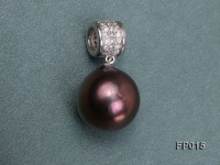 15x16mm Freshwater Pearl Pendant with Sterling Silver