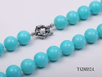 12mm Round Turquoise Necklace