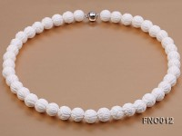 11.5mm Round White Tridacna Beads Necklace