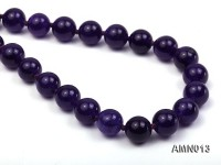 10mm Round Amethyst Beads Necklace
