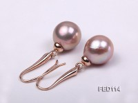 13-14mm Lavender Cultured Freshwater Pearl Earring