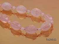 15x20mm Rose Quartz Necklace