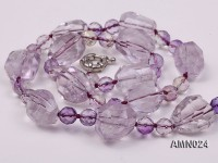 Irregular Amethyst and Round Ametrine Necklace