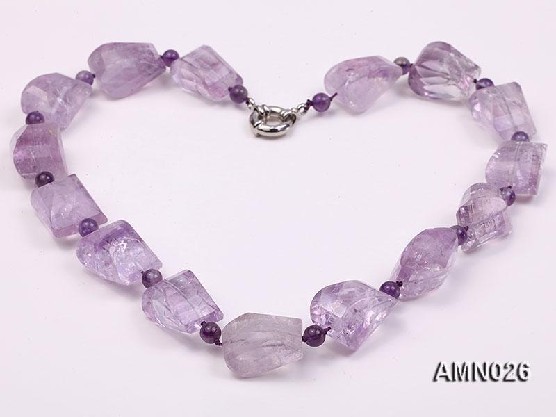Irregular and Round Amethyst Necklace