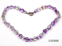 10mm & 8mm Round Faceted Ametrine Beads Necklace