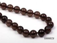 10mm Round Smoky Quartz Beads Necklace