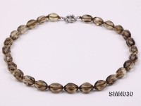 10x15mm Smoky Quartz Beads Necklace