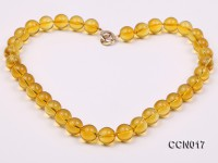 12mm Round Citrine Beads Necklace
