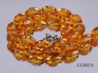 11x12mm Oval Faceted Citrine Beads Necklace