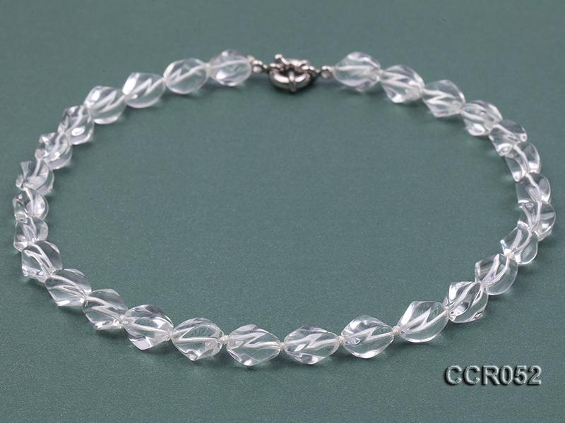 9x13mm Irregular Rock Crystal Necklace