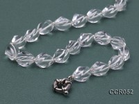 9x13mm Irregular Rock Crystal Necklace