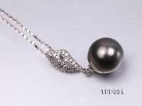 13-14mm Gorgeous Tahitian Pearl Pendant with Sterling Silver