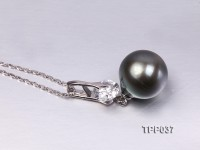 13mm Gorgeous Tahitian Pearl Pendant with Sterling Silver
