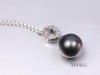 13.2mm Gorgeous Tahitian Pearl Pendant with Sterling Silver