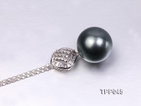 16mm Gorgeous Tahitian Pearl Pendant with Sterling Silver