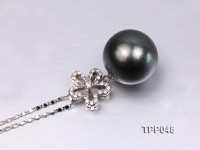 16.3mm Gorgeous Tahitian Pearl Pendant with Sterling Silver